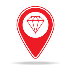 jewelry store map pin icon. Element of warning navigation pin icon for mobile concept and web apps. Detailed jewelry store map pin icon can be used for web and mobile