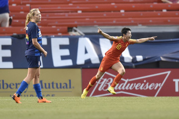 Soccer: International Friendly Women's Soccer-China PR at USA