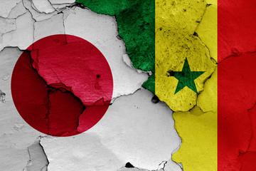 flags of Japan and Senegal