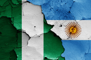 flags of Nigeria and Argentina