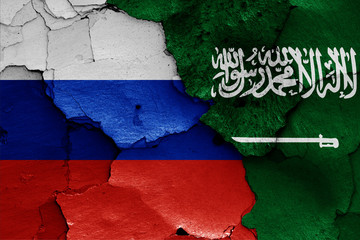 flags of Russia and Saudi Arabia
