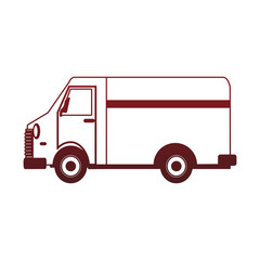 Delivery van vehicle vector illustration graphic design