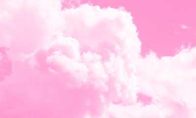 Cotton candy sky pink background illustration.