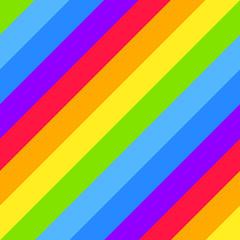 Geometric striped seamless background, bright rainbow spectrum colors