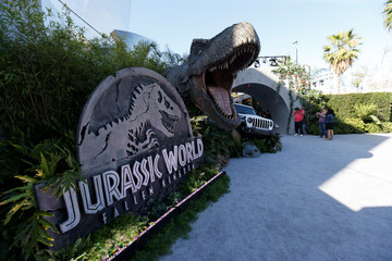 """A general view of the premiere of the movie """"Jurassic World: Fallen Kingdom"""" at Walt Disney Concert Hall in Los Angeles"""