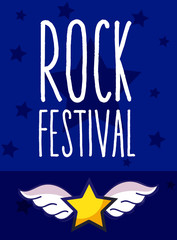 Rock festival cartoon