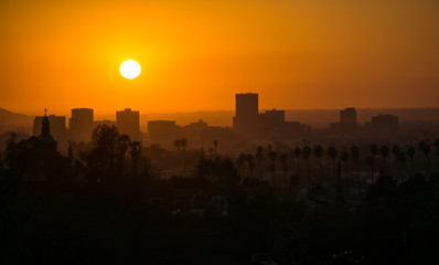 Sunset on Korea Town Los Angeles