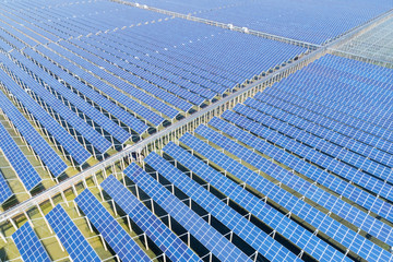 huge photovoltaic power station