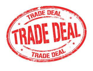 Trade deal grunge rubber stamp