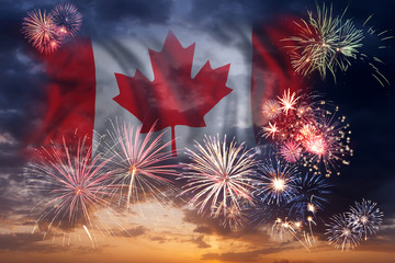Papiers peints Canada Holiday fireworks on day of Canada
