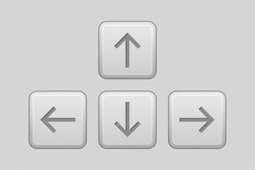 Arrows keypad. Gray UI elements