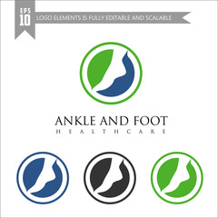 Foot and Ankle Care logo template