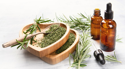 Tuinposter Aromatische Natural rosemary essential oil