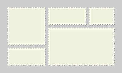 Postage stamp vector post or postcards