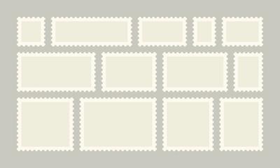 Postage stamp vector post or postcards