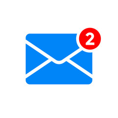 New message notification vector icon