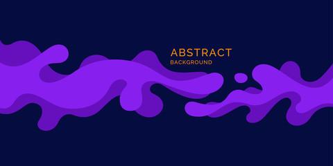 Bright poster with splatter. Illustration minimal flat style
