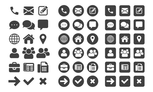 Contact vector UI app icons