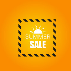 summer sale vector warning concepts