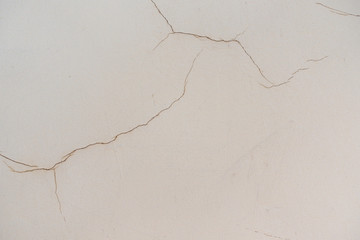 Old Cracked Weathered Shabby Plastered Peeled Wall Background.