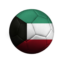 The flag of Kuwait is depicted on a soccer ball