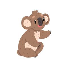 Cute koala bear, Australian marsupial animal character vector Illustrations on a white background