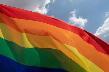 Gay Pride rainbow peace flag