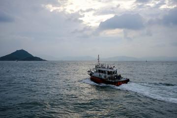 Pilot boat in Hong Kong