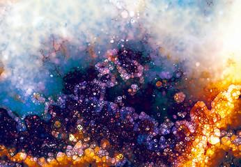 Grunge background, orange and violet color. Color abstract background.