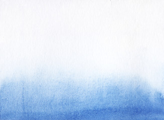 Textured paper with gradient from light to bright blue. Hand drawn background.