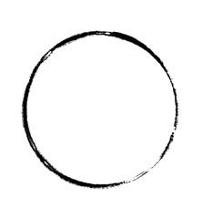 Schwarzer handgemalter Kreise