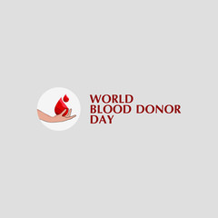 World Blood Donor Day Vector Template Design Illustration