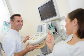 appointment with the sonographer