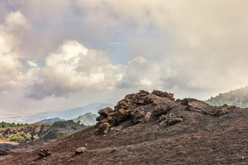 Looking down from Volcano Pacaya (active), Guatemala, May 2018