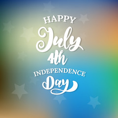 Happy 4th of July. The trend calligraphy.