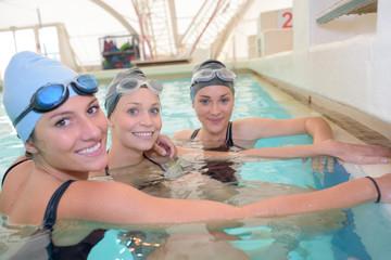 swimming team posing