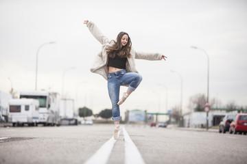 woman dancer on ballet tips 11