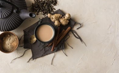 Oriental cup of tea Chai.