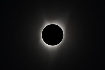 USA. Idaho. Idaho Falls. Rexburg. Total Sun Eclipse of August 21, 2017. Extended solar corona.