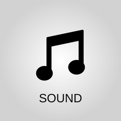 Sound icon. Sound symbol. Flat design. Stock - Vector illustration