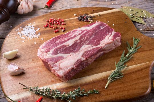 Raw beef sreak