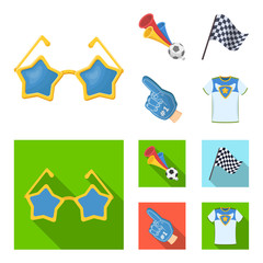 Pipe, uniform and other attributes of the fans.Fans set collection icons in cartoon,flat style vector symbol stock illustration web.