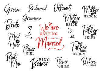 Wall Mural - who is who on wedding set