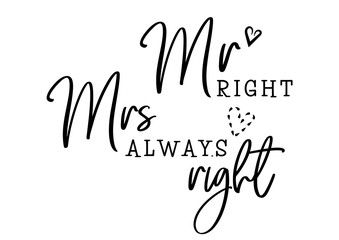 Wall Mural - mr mrs always right