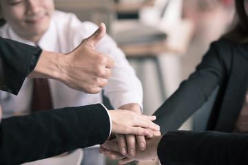 Teamwork in business, teamwork Really Works concept.