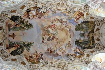 Wallfahrtskirche St. Peter und Paul, erbaut von den Brüdern Zimmermann 1728 - 1731, Steinhausen, Baden-Württemberg, Deutschland, Europa