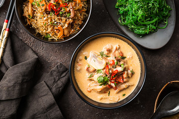 Thai soup called Tom Kha Gai