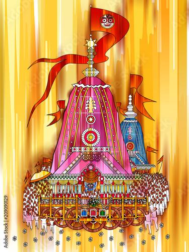 Ratha Yatra of Lord Jagannath, Balabhadra and Subhadra on