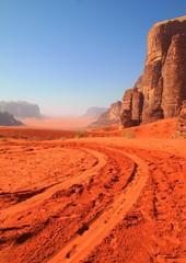 Foto auf Acrylglas Koralle Roadtrip on Mars - Wadi Rum - Jordan