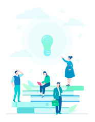 Bright idea - flat design style colorful illustration